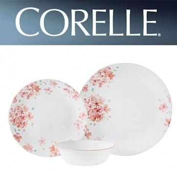 Corelle Adoria 12 Piece Dinner Set Pink Floral Design COR-ADORIA-12PC-31