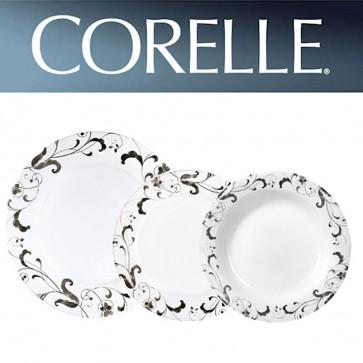 Corelle Faenza 18 Piece Wide Rim Dinner Set Including Rimmed Soup Dish COR-FAENZA-18PC-31