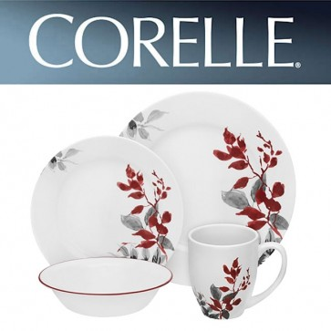 Corelle Kyoto Leaves Round 16 Piece Dinner Set COR-KYOTO-LEAVES-16PC-31