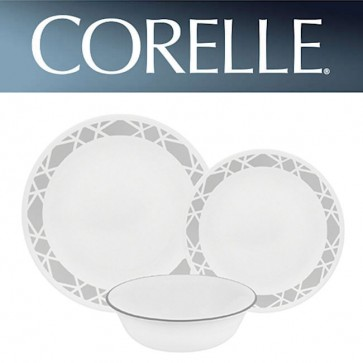 Corelle Modena 12 Piece Dinner Set Chip Break Resistant