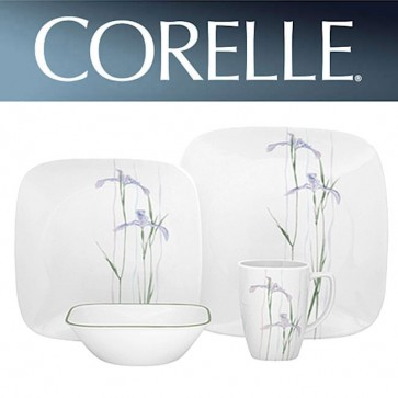 Corelle Shadow Iris Square 16 Piece Dinner Set COR-SHADOW-IRIS-SQUARE-16PC-31