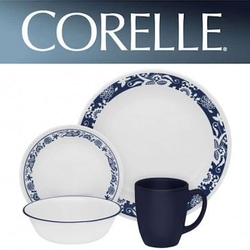Corelle True Blue 16 Piece Dinner Set COR-TRUE-BLUE-16PC-30