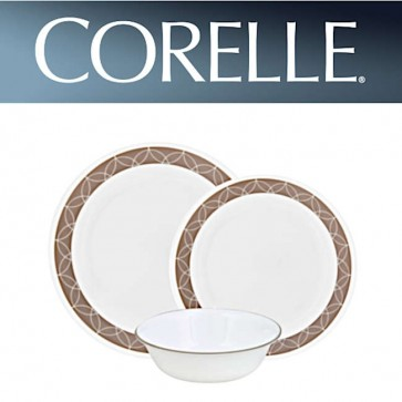 Corelle Sand Sketch 12 Piece Dinner Set COR-SAND-SKETCH-12PC-31