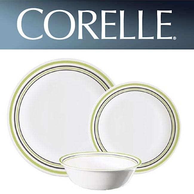 Corelle Garden Sketch Bands 12pc Dinner Set Cooklite