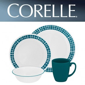 Corelle Aqua Tiles 16 Piece Dinner Set COR-AQUA-TILES-16PC-20