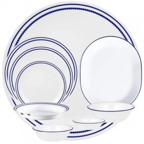 Corelle Breathtaking Blue Beads 76pc Bead/Line Design Dinner Set CORELLE-BREATHTAKING-BLUE-76-DINNER-SET-20