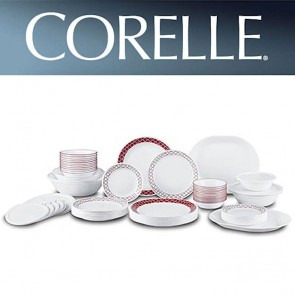 Corelle Crimson Trellis 74 piece Dinner Set COR-CRIMSON-TRELLIS-74PC-20