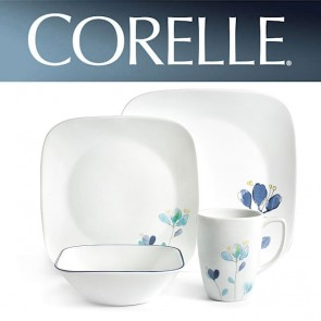 Corelle Dalena 16 Piece Square Dinner Set COR-DALENA-16PC-20