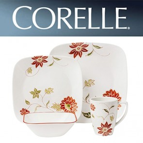 Corelle Matilda 16 Piece Square Dinner Set COR-MATILDA-16PC-20