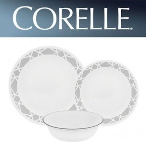 Corelle Modena 12 Piece Dinner Set Chip/Break Resistant Dinnerware COR-MODENA-12PC-20