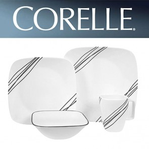 Corelle Simple Sketch Square 16 Piece Dinner Set COR-SIMPLE-SKETCH-SQUARE-16PC-20