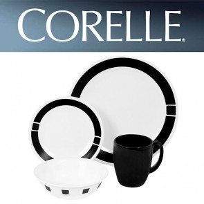 Corelle Urban Black 16 Piece Dinner Set COR-SURBAN-BLACK-16PC-20