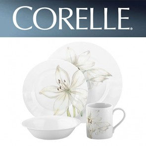 Corelle White Flower 16 Piece Wide Rim Dinner Set COR-WHITE-FLOWER-16PC-20