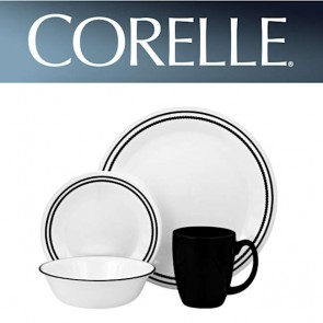 Corelle Brilliant Black Beads 16pc Dinner Set COR-BRILL-BLACK-BEADS-16PC-20