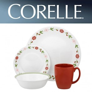 Corelle Spring Pink 16 Piece Dinner Set COR-SPRING-PINK-16PC-20