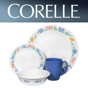 Corelle FriendShip 16 Piece Dinner Set with Stoneware Mugs COR-FRIENDSHIP-16PC-20