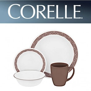 Corelle Sand Sketch 16 Piece Dinner Set COR-SAND-SKETCH-16PC-20