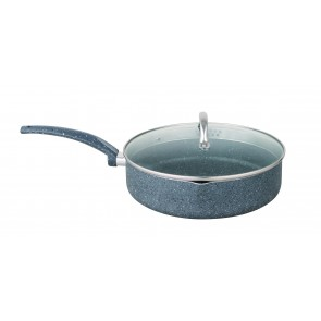 Cooklites Petra Stone 26cm Saute Pan With Glass Lid RFD026 CookliteSautepan26cmRFD026-20