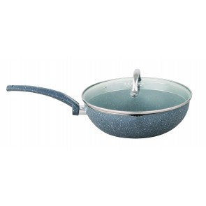 Cooklites Petra stone 30cm Non Stick Wok With Glass Lid RFW030 CookliteWok30cmRFW030-20