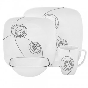 Corelle Scribble Lines Square 16pc Dinner Set COCOSRSL16pcDinnerSet-20