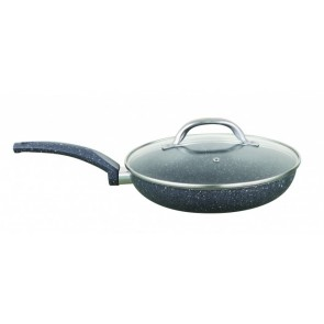 Cooklites Petra stone 20cm Fry pan with glass lid RFF020 Cooklite20cmFrypanRFF020-20