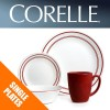 Corelle Classic Cafe Red Dinnerware Single Plate Bowl Dish Replacements Spares