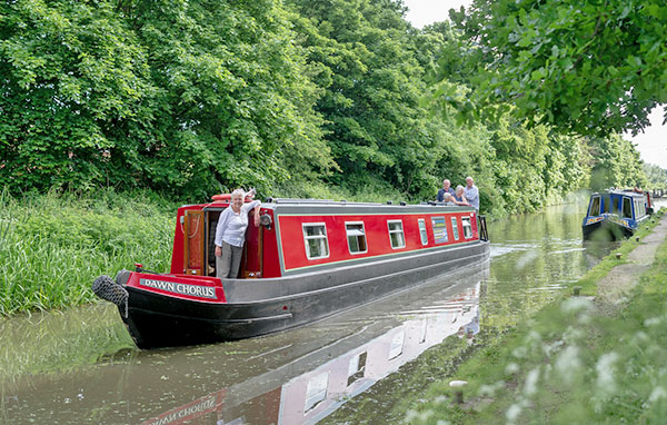 Dawn Chorus Narrow Boat On Canal Way