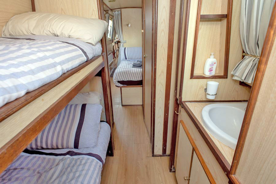 Dawn Mist Narrow Boat Bedroom